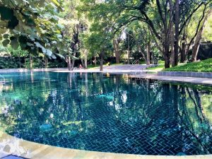 swimming pool at the Osho Ashram in Pune